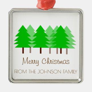 Feliz ornamento de los árboles de navidad de la