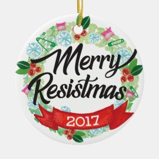 Feliz ornamento del día de fiesta de Resistmas