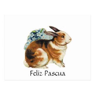 Feliz Pascua, Pascua feliz en español Postal