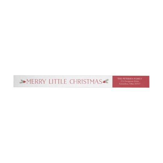 Feliz pequeña etiqueta del remite del navidad etiquetas para remite
