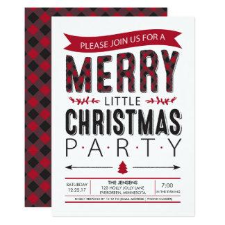 Feliz pequeña invitación de la fiesta de Navidad