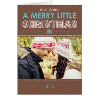 Feliz pequeña tarjeta de Navidad doblada moderna