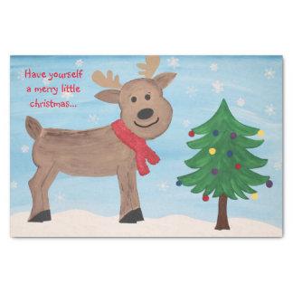 Feliz pequeño papel seda del navidad