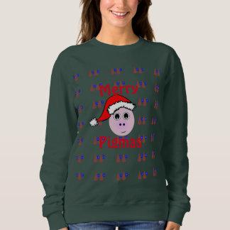 Feliz Pigmas, suéter feo del navidad