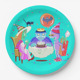 Feliz placa de papel de Frankie del cumpleaños Plato De Papel