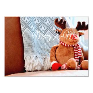 Feliz reno de Navidad Invitación 12,7 X 17,8 Cm