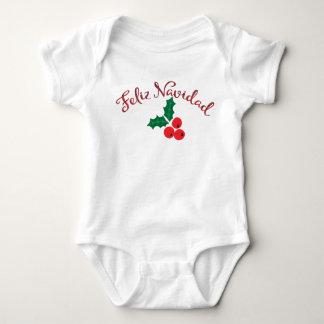 Feliz rojo Navidad Body Para Bebé