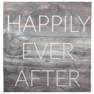 Feliz siempre después servilleta de tela