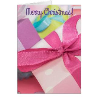 Tarjeta Feliz tarjeta de felicitación de los regalos de