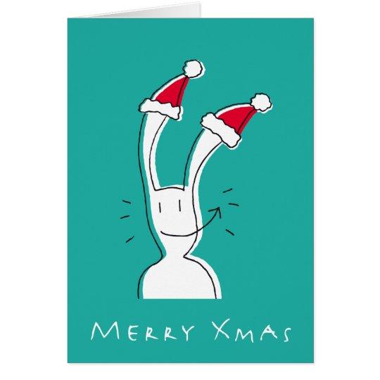 Feliz tarjeta de felicitación de Navidad por