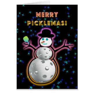 Feliz tarjeta de felicitación de Picklemas