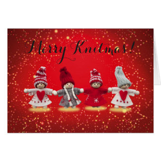 Feliz tarjeta de Knitmas