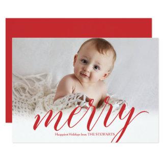Feliz tarjeta de la foto del día de fiesta de la
