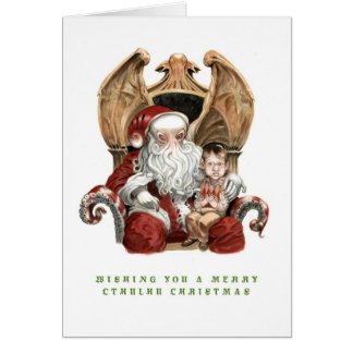 Feliz tarjeta de Navidad de Cthulhu