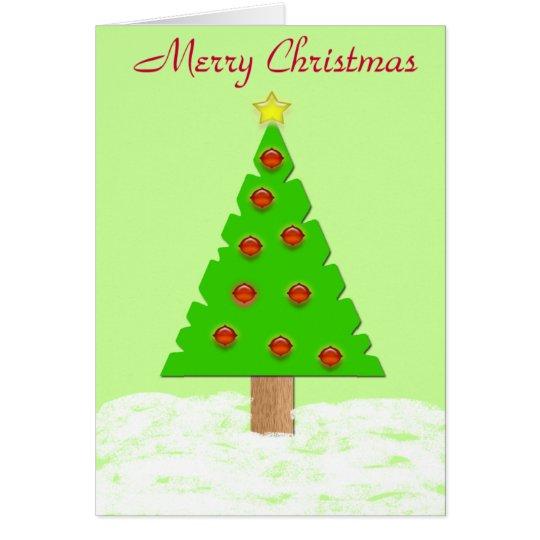 Feliz tarjeta del árbol de navidad
