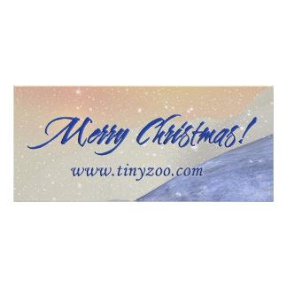 Feliz tarjeta del estante de Chrismtas 4x9 Lona