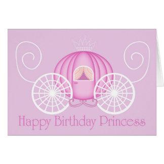 Feliz tarjeta en blanco de princesa Card del cumpl