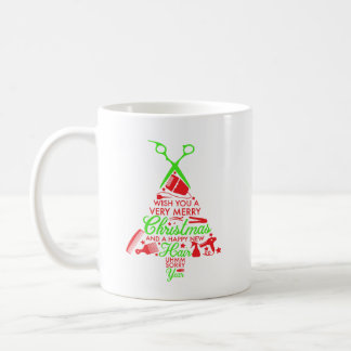 Feliz taza de café del navidad de la belleza