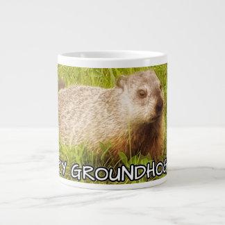 Feliz taza del día de la marmota