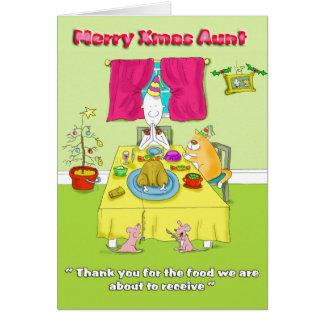 Feliz tía de Navidad Tarjeta De Felicitación