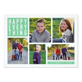 Feliz todo tarjeta del día de fiesta de cinco