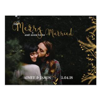 Feliz y pronto ser postal casada del navidad