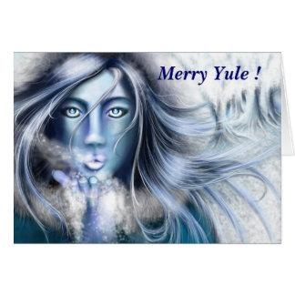 Feliz Yule tarjeta de felicitación de Skadi de