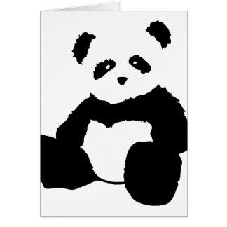 felpa de la panda tarjeta