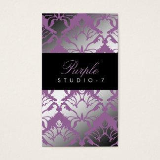 Felpa de la púrpura del reflejo del damasco 311 tarjeta de visita