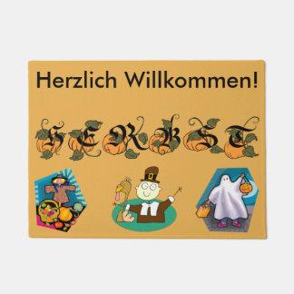 Felpudo alemán de la caída (otoño)