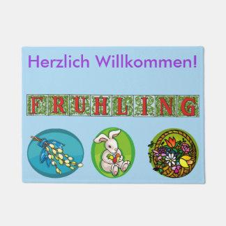 Felpudo alemán de la primavera