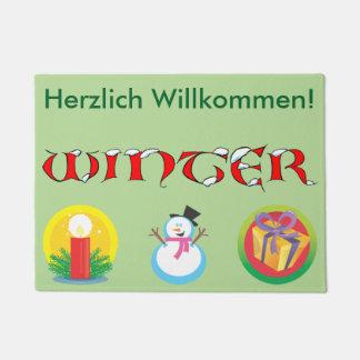 Felpudo alemán del invierno