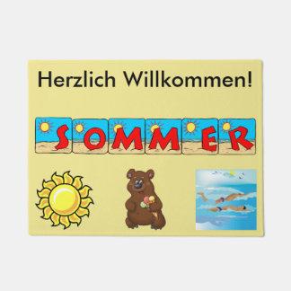 Felpudo alemán del verano