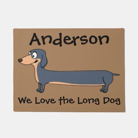 """Felpudo Ame el perro largo - Dachshund (2) 18"""" x 24"""""""