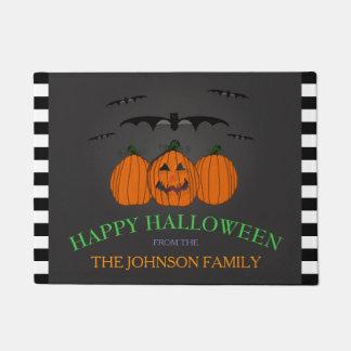 Felpudo Apellido: Estera de puerta del feliz Halloween