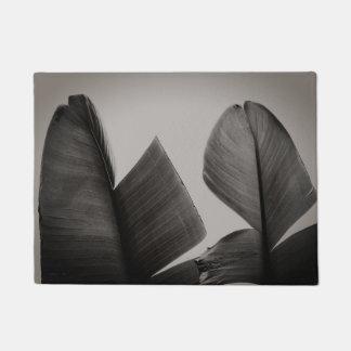 Felpudo Árbol de plátano blanco y negro