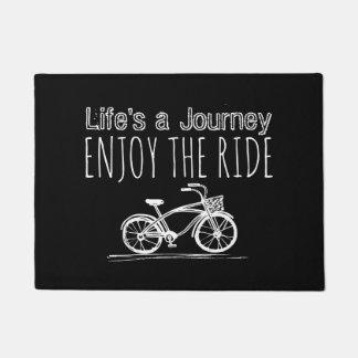 Felpudo Boho negro y blanco de la bicicleta del vintage