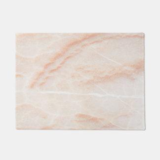 Felpudo color crema de mármol veteado doormat de mármol de