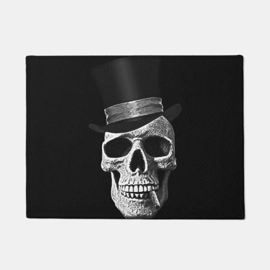 Felpudo Cráneo del sombrero de copa