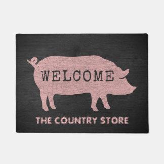Felpudo del personalizado de la silueta del cerdo