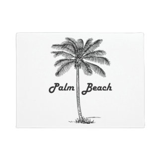 Felpudo Diseño blanco y negro del Palm Beach la Florida y