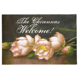 Felpudo Doormat agradable de las flores de Heade Lotus