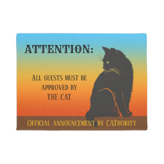 Felpudo Doormat aprobado del gato oficial
