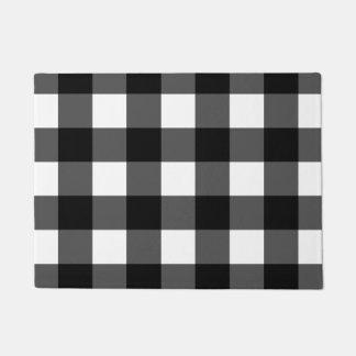 Felpudo Doormat blanco y negro del control del búfalo