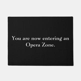 """Felpudo """"Doormat de la zona de la ópera"""""""