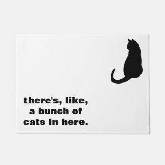 Felpudo Doormat del gato
