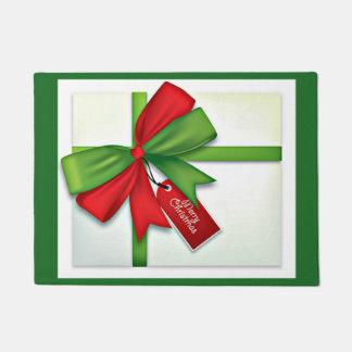 Felpudo Doormat del regalo del navidad
