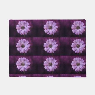 Felpudo Doormat purpúreo claro de moda de la flor de la