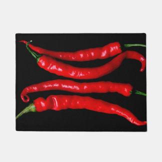 Felpudo Doormat rojo de cuatro chiles