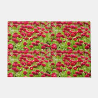 Felpudo Doormat rojo de moda de la flor del verano de las